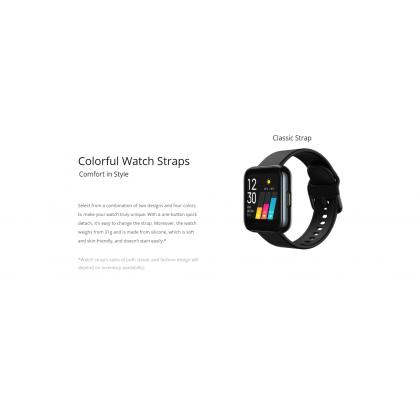 realme Watch - Color Touchscreen, 24/7 Health Assistant, Smart Connect