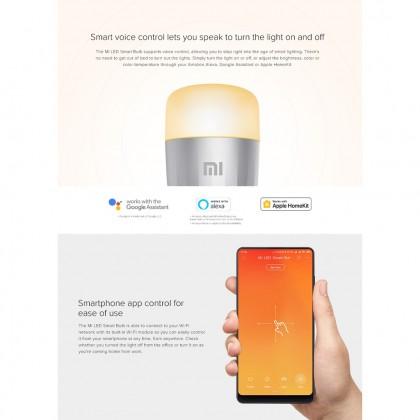 Xiaomi Mi LED Smart Bulb  - Works with Google Assistance & Alexa