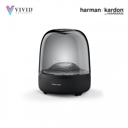 Aura Studio 3 Harman Kardon Portable & Home Speaker [Exceptional 360 Degree Audio | Ambient Light | Visually Stunning Sound | Wireless Streaming With Bluetooth] 1 Year Official Warranty By Harman Kardon