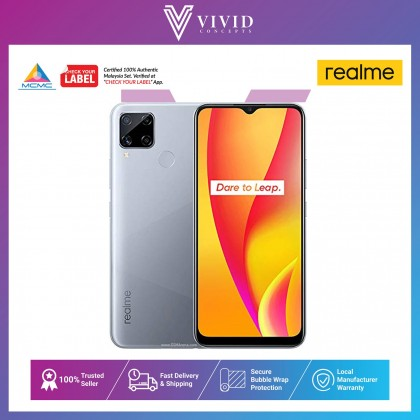"[READY STOCK] Realme C15 Smartphone ( 4GB RAM + 64/128GB ROM) 6000mAh | 18W Quick Charge | 13MP AI Quad Camera | 16.5cm (6.5"") HD+ Mini-drop Fullscreen 