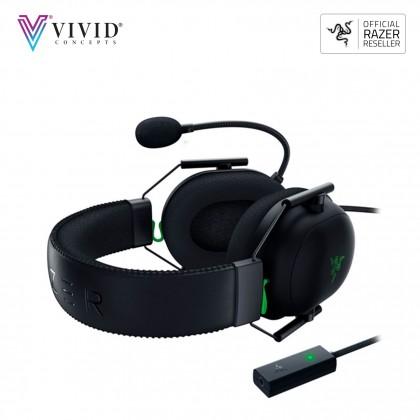 RAZER BLACKSHARK V2 WITH USB SOUND CARD WIRED GAMING HEADSET -ESPORT WITH THX SPATIAL AUDIO 7.1