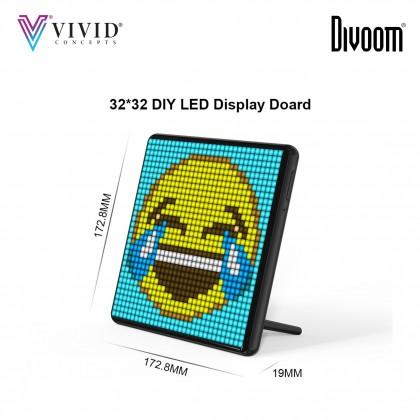 Divoom Pixoo Max Digital Photo Frame with 32*32 Pixel Art Programmable LED Display Board