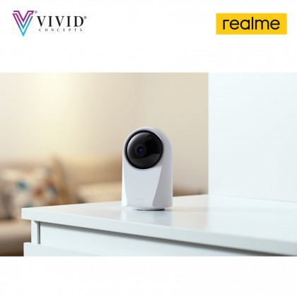 Realme Smart Cam 360 White 360° Vision 24/7 Protection 1080p Video Recording Supports up to 128GB Memory Card Al Motion