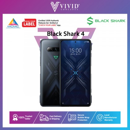 [MY SET] Black Shark 4 Gaming Smartphone [8GB + 128GB] [12GB + 256GB]SnapdragonTM 870,20W Hyper Charging, 144Hz, Magnetic Pop-up Triggers